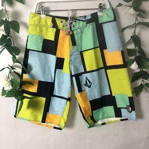 Volcom Mens Size 32 Board Shorts Colourful